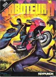 Box cover for Saboteur II on the Microsoft DOS.