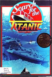 Box cover for Search for the Titanic on the Microsoft DOS.