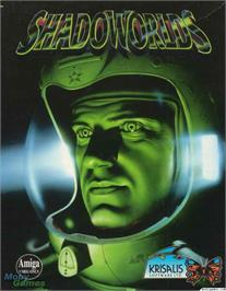 Box cover for Shadoworlds on the Microsoft DOS.