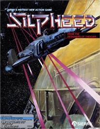 Box cover for Silpheed on the Microsoft DOS.
