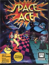 Box cover for Space Ace on the Microsoft DOS.
