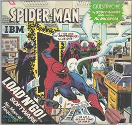 Box cover for Spiderman on the Microsoft DOS.