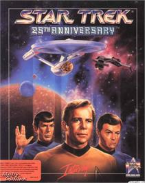 Box cover for Star Trek - 25th Anniversary on the Microsoft DOS.
