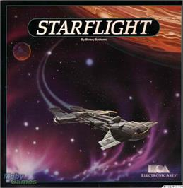 Box cover for Starflight on the Microsoft DOS.