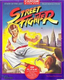 Box cover for Street Fighter on the Microsoft DOS.