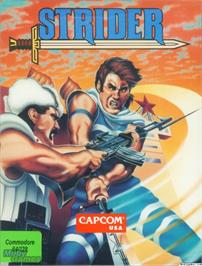 Box cover for Strider on the Microsoft DOS.