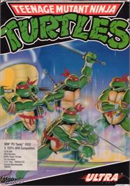 Box cover for Teenage Mutant Ninja Turtles on the Microsoft DOS.