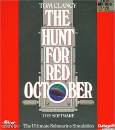Box cover for The Hunt for Red October on the Microsoft DOS.