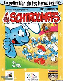 Box cover for The Smurfs on the Microsoft DOS.
