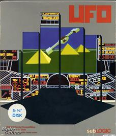 Box cover for UFO on the Microsoft DOS.