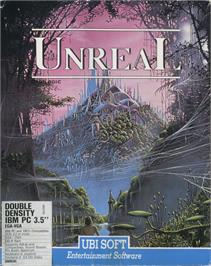 Box cover for Unreal on the Microsoft DOS.