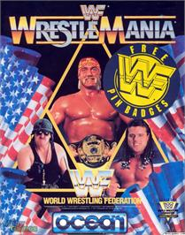 Box cover for WWF Wrestlemania on the Microsoft DOS.