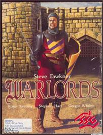 Box cover for Warlords on the Microsoft DOS.