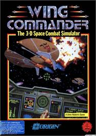 Box cover for Wing Commander on the Microsoft DOS.