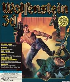 Box cover for Wolfenstein 3D on the Microsoft DOS.