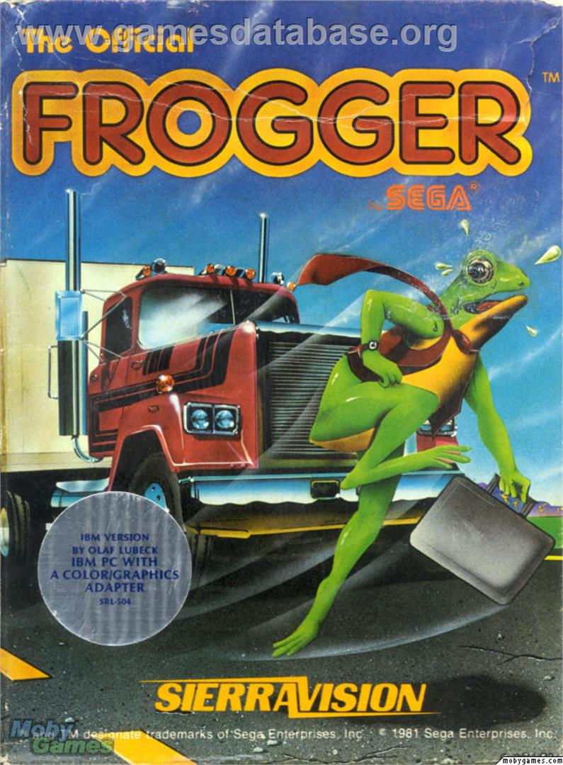 Frogger - Microsoft DOS - Artwork - Box