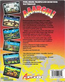 Box back cover for AAARGH! on the Microsoft DOS.