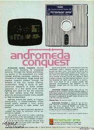 Box back cover for Andromeda Conquest on the Microsoft DOS.