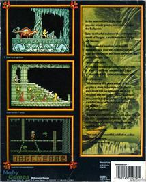 Box back cover for Barbarian on the Microsoft DOS.