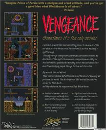 Box back cover for Blackthorne on the Microsoft DOS.