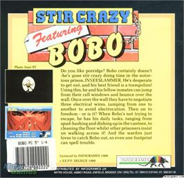 Box back cover for BoBo on the Microsoft DOS.