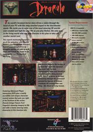 Box back cover for Bram Stoker's Dracula on the Microsoft DOS.