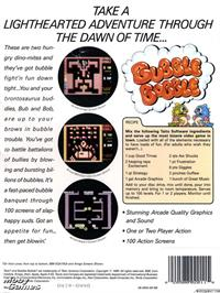 Box back cover for Bubble Bobble on the Microsoft DOS.