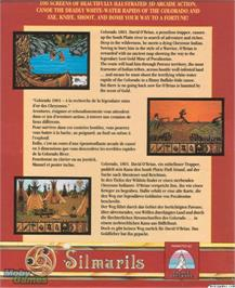 Box back cover for Colorado on the Microsoft DOS.