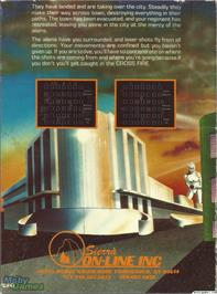 Box back cover for Crossfire on the Microsoft DOS.