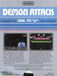 Box back cover for Demon Attack on the Microsoft DOS.