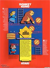 Box back cover for Donkey Kong on the Microsoft DOS.