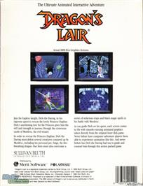 Box back cover for Dragon's Lair on the Microsoft DOS.