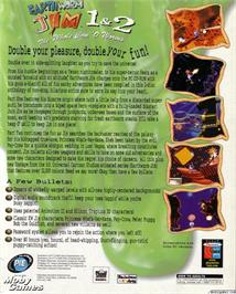 Box back cover for Earthworm Jim 2 on the Microsoft DOS.
