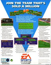 Box back cover for FIFA International Soccer on the Microsoft DOS.