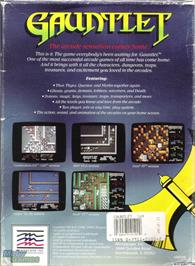 Box back cover for Gauntlet on the Microsoft DOS.