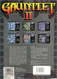 Box back cover for Gauntlet II on the Microsoft DOS.