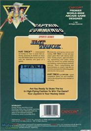 Box back cover for Hat Trick on the Microsoft DOS.