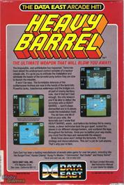 Box back cover for Heavy Barrel on the Microsoft DOS.