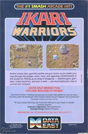 Box back cover for Ikari Warriors on the Microsoft DOS.