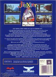 Box back cover for Jinxter on the Microsoft DOS.
