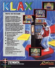 Box back cover for Klax on the Microsoft DOS.