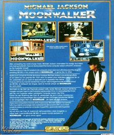 Box back cover for Moonwalker on the Microsoft DOS.