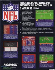 Box back cover for NFL Football on the Microsoft DOS.