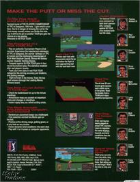 Box back cover for PGA Tour Golf on the Microsoft DOS.