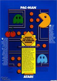 Box back cover for Pac Man on the Microsoft DOS.