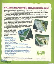 Box back cover for Paperboy 2 on the Microsoft DOS.