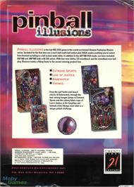 Box back cover for Pinball Illusions on the Microsoft DOS.