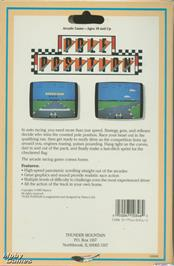 Box back cover for Pole Position on the Microsoft DOS.