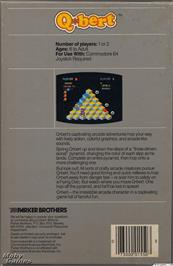 Box back cover for Qbert on the Microsoft DOS.