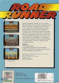 Box back cover for Road Runner on the Microsoft DOS.
